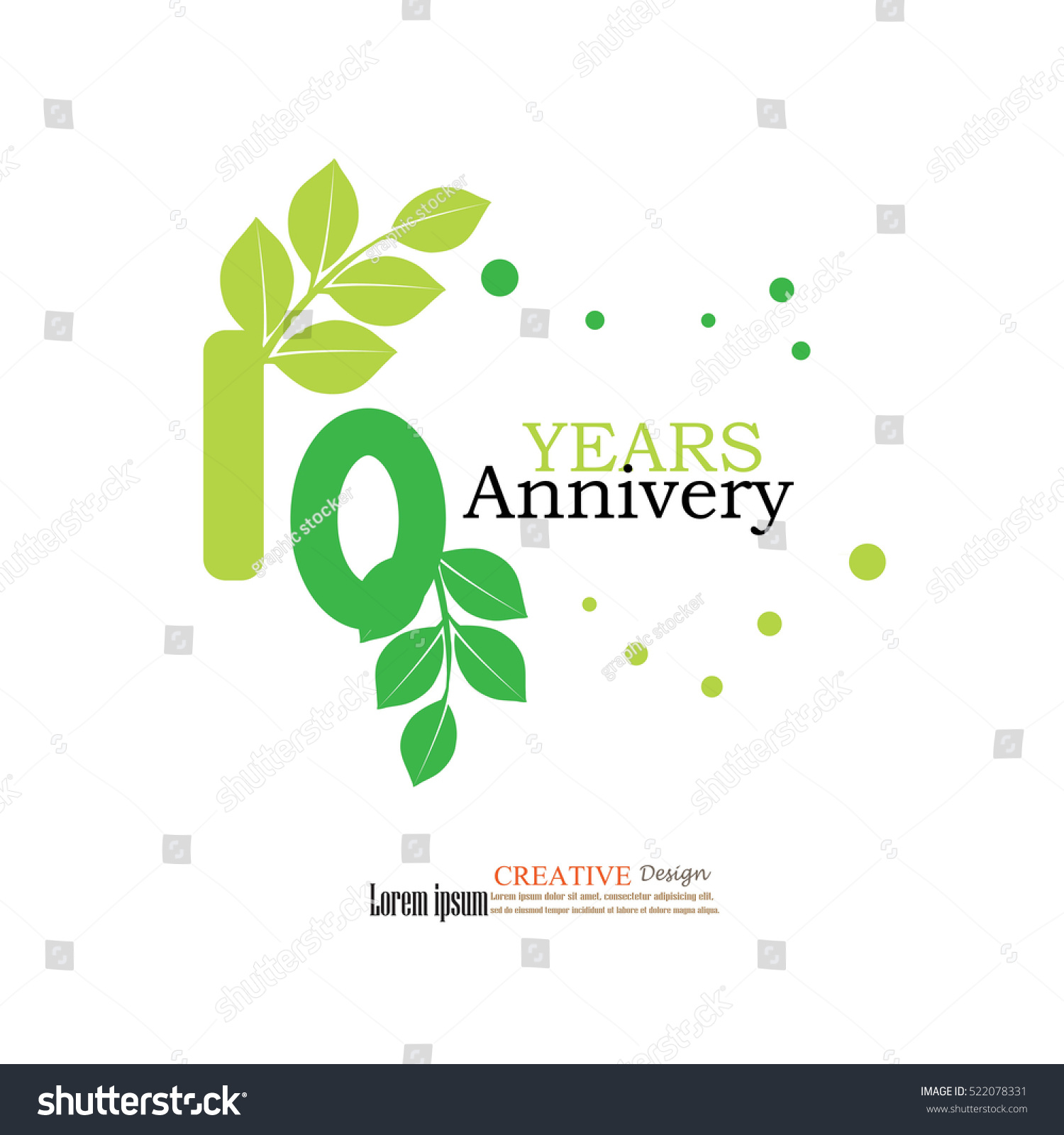Template Logo 10th Anniversary 10 Years Stock Vector Royalty Free