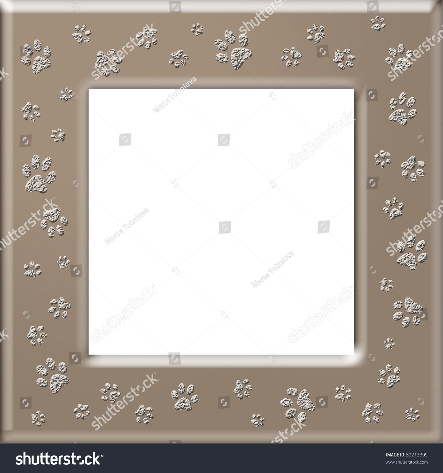 Paw Print Frame Stock Illustration 52213309 - Shutterstock