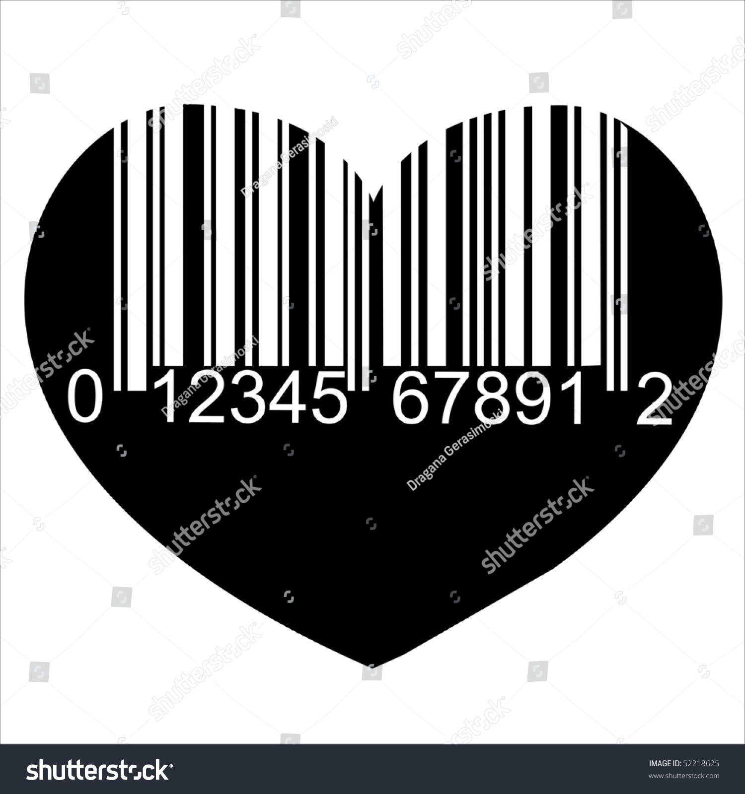 Heart barcode icon love symbol useful stock illustration 52218625 heart barcode icon love symbol useful bar code for valentines day isolated over buycottarizona Choice Image