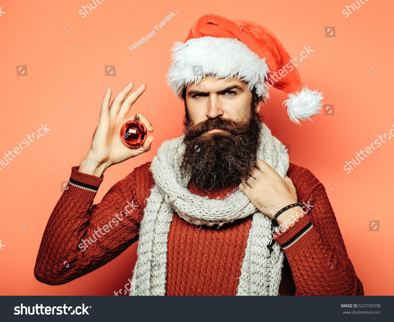 Young Handsome Bearded Santa Claus Man Photo Libre De Droits ...