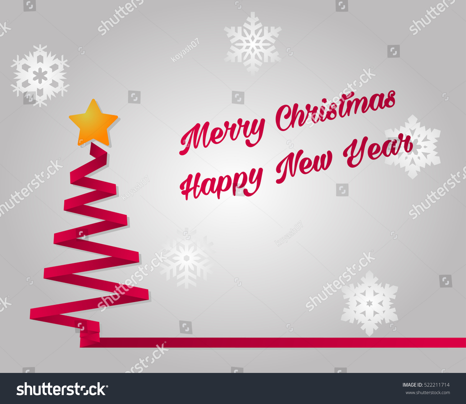Merry christmas happy new year vector stock vector royalty free merry christmas and happy new year vector greeting card xmas tree postcard snowflakes spruce star m4hsunfo