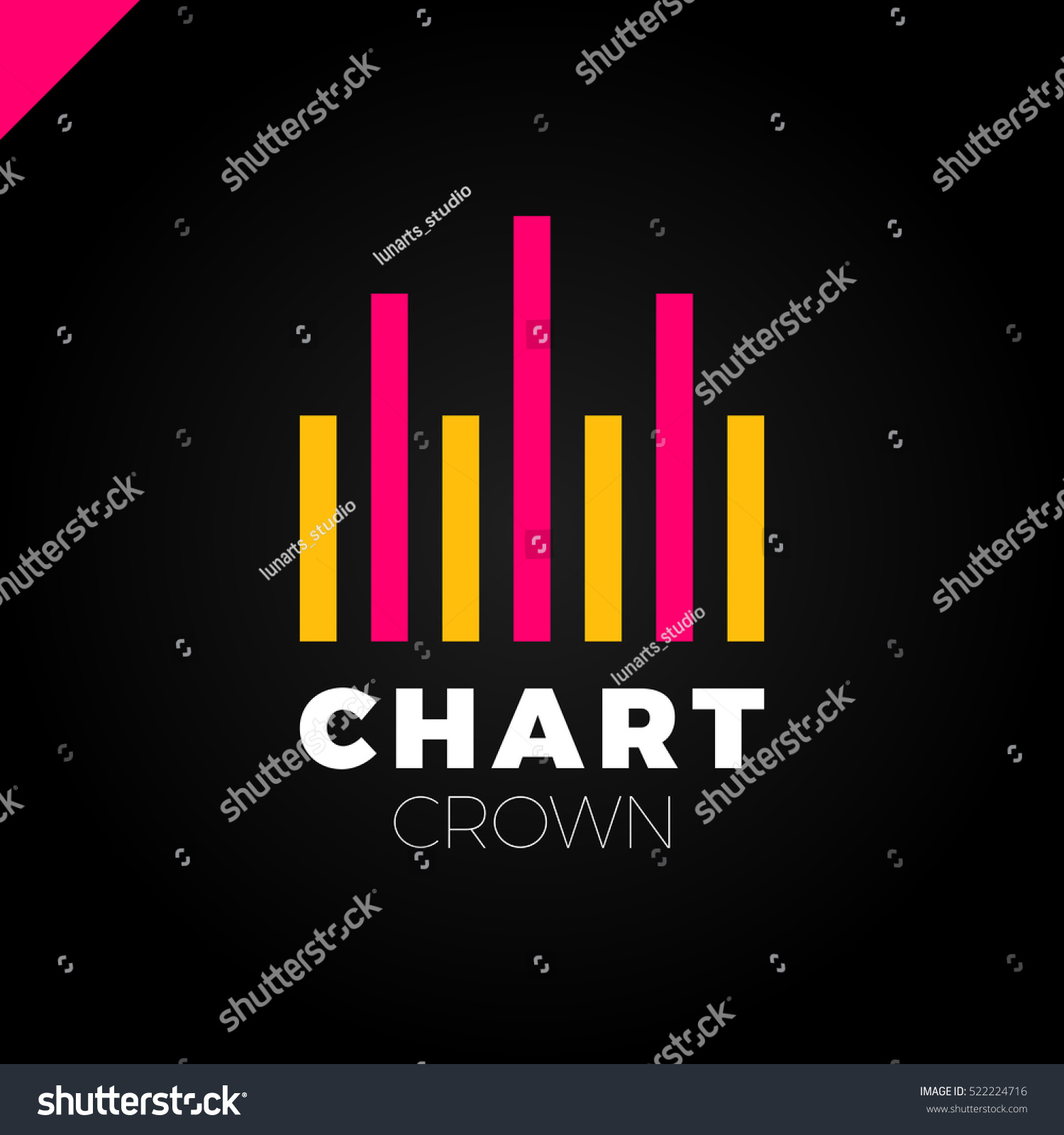 Chart crown logo infographic rate chart stock vector 522224716 chart crown logo infographic rate chart or rate icon logotype growing graph simbol nvjuhfo Images