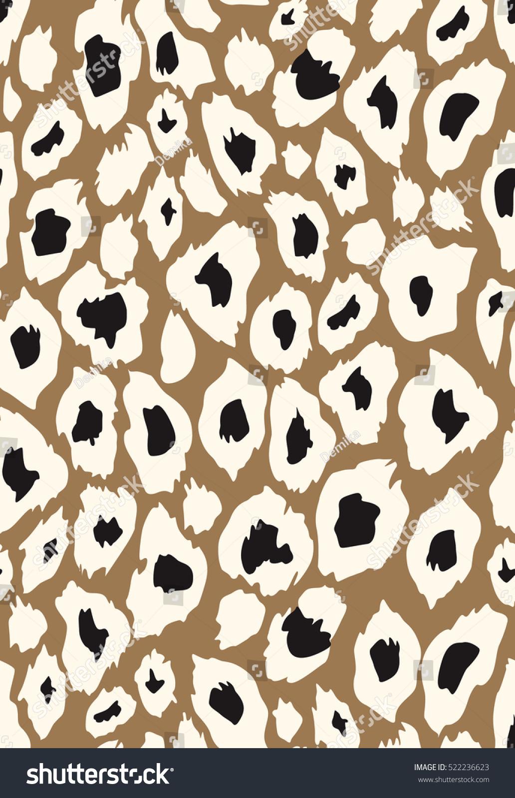 Vector Leopard Texture Different Colors Brown Stock Vector