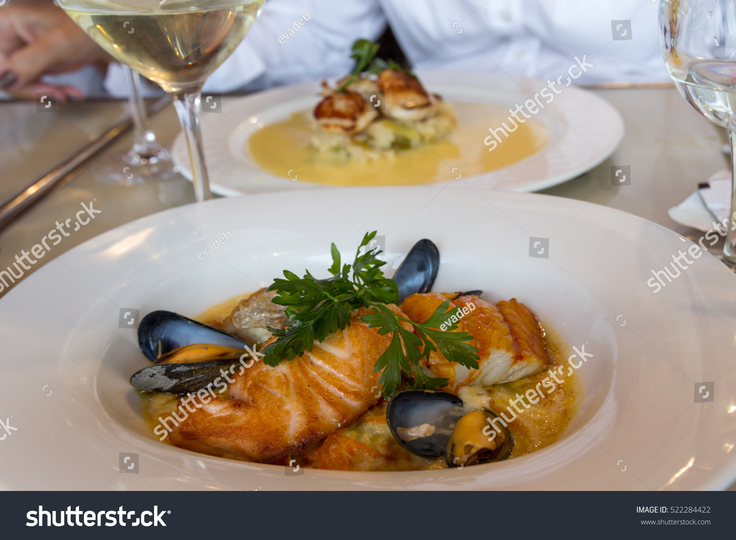 Seafood Dishes Restaurant France Stock ...
