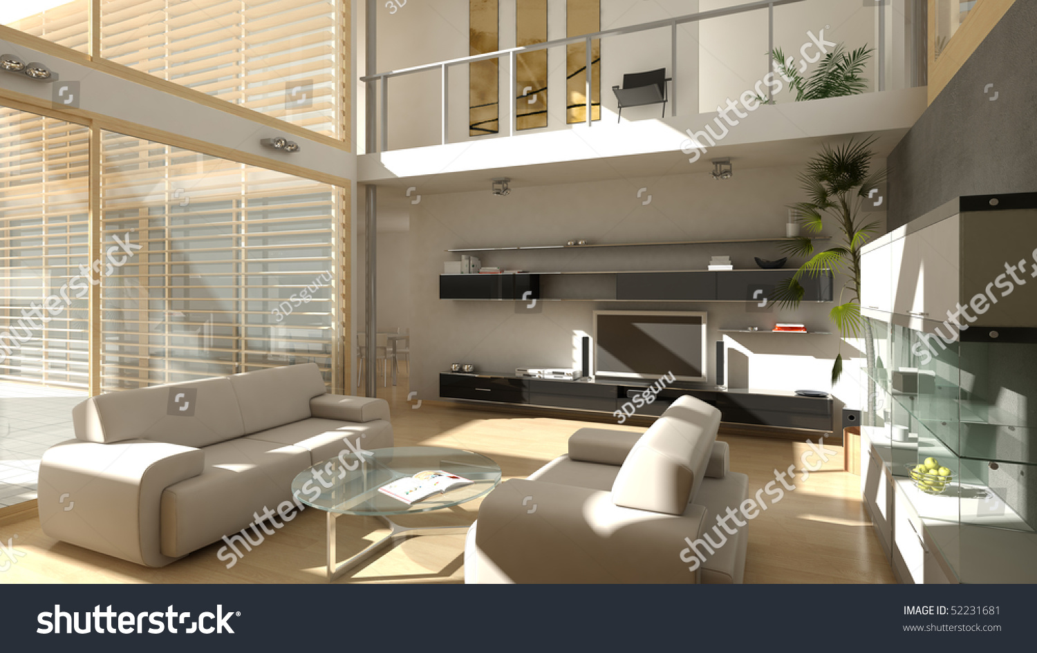 A High Quality, High Resolution Render Of A Modern Style Living Room Part 37