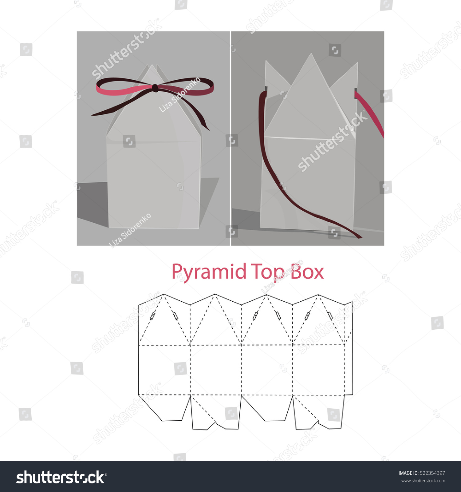 Pyramid Top Box Stock Vector 522354397 - Shutterstock