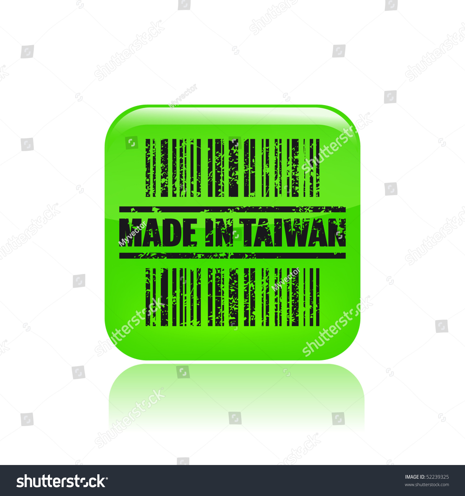 vector illustration of barcode icon marked made in taiwan 52239325 shutterstock. Black Bedroom Furniture Sets. Home Design Ideas