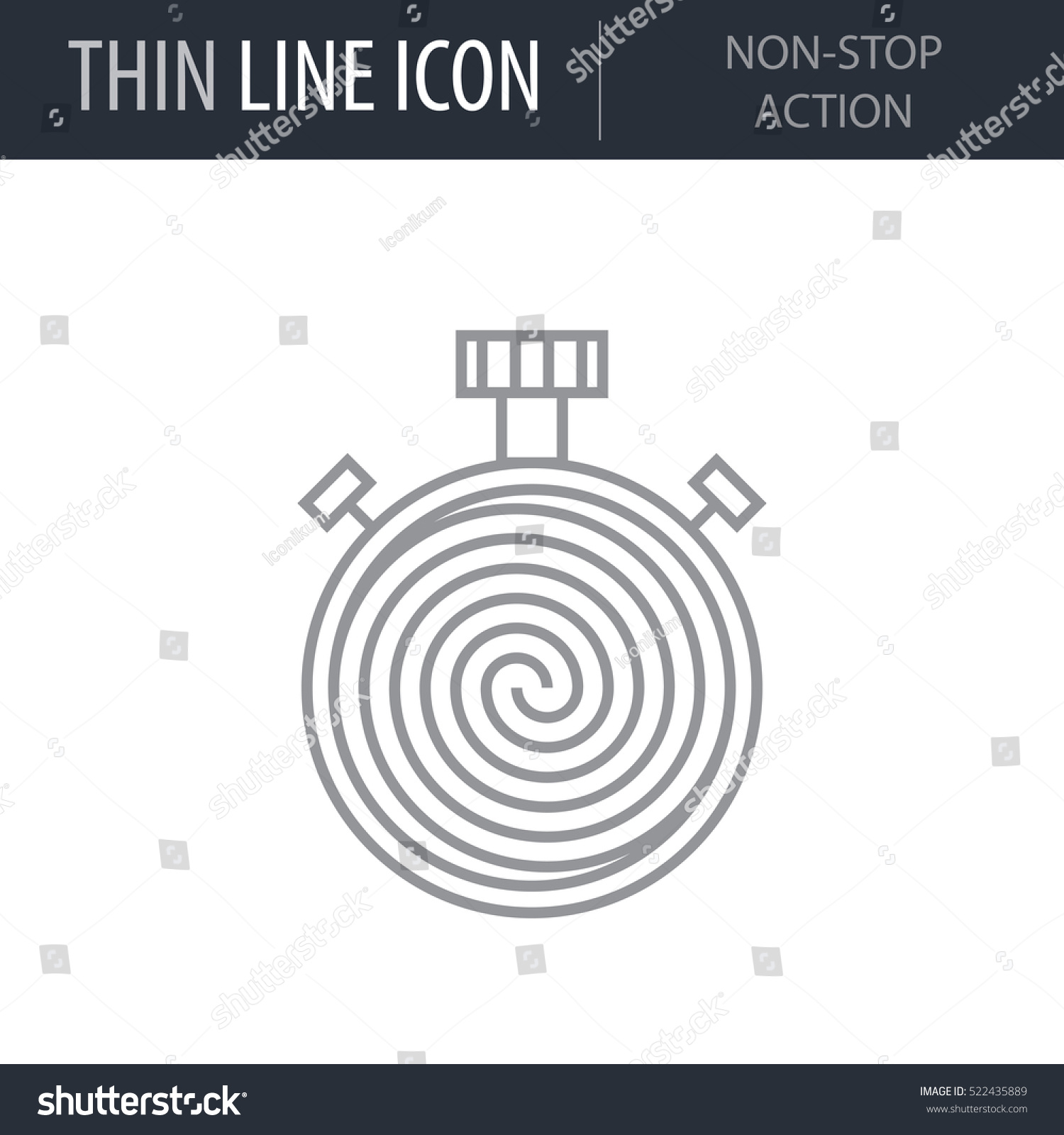 Symbol Nonstop Action Thin Line Icon Stock Vector Royalty Free