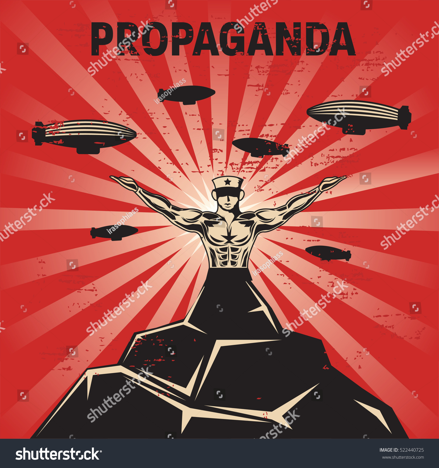 propaganda poster template stock vector royalty free 522440725