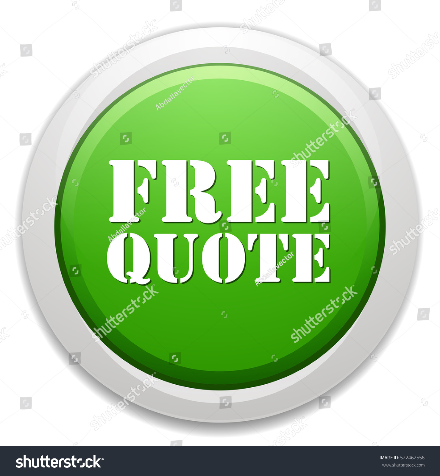Free Quote Free Quote Button Stock Vector 522462556  Shutterstock