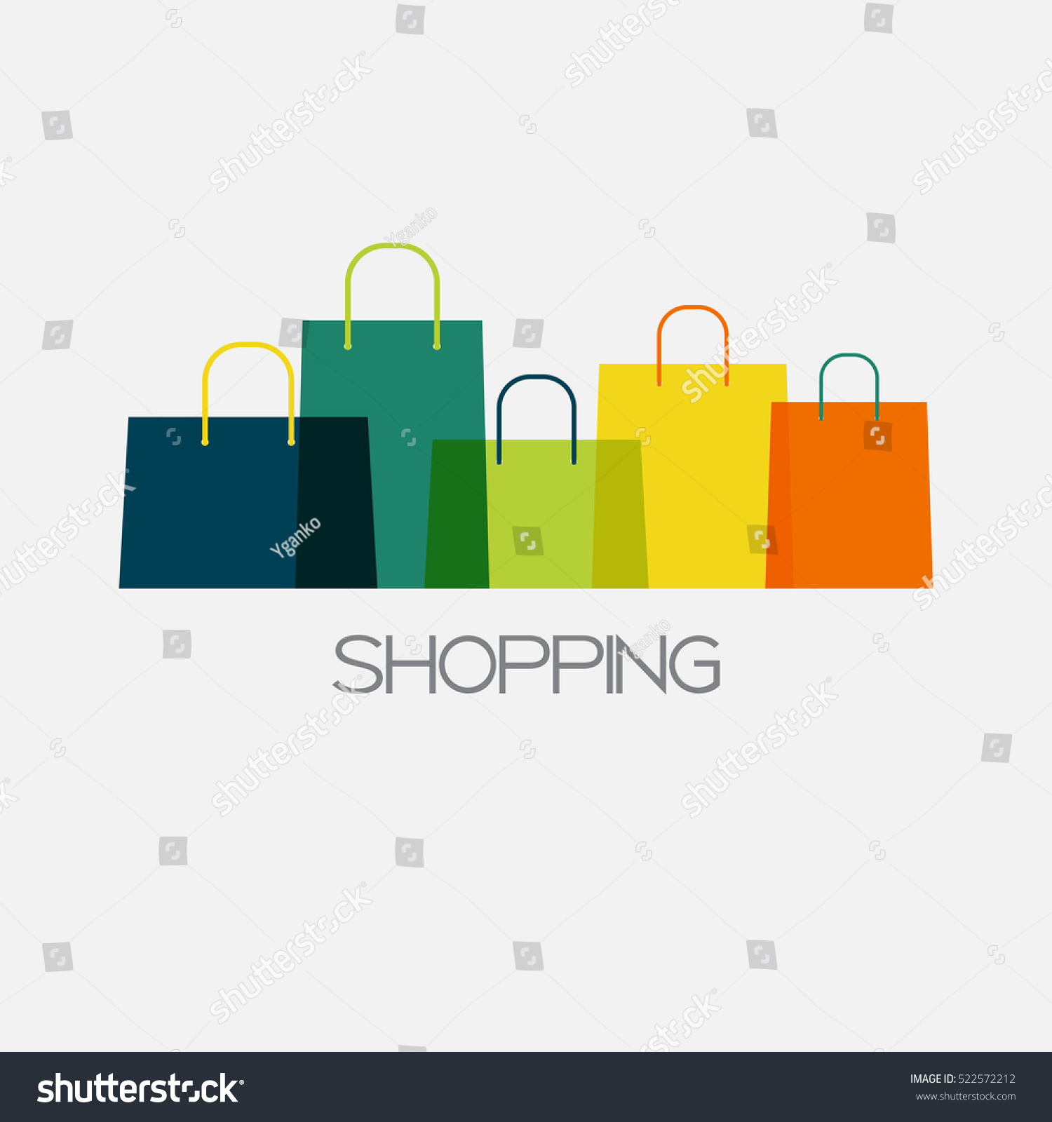 shopping bag design background vector illustration のベクター画像