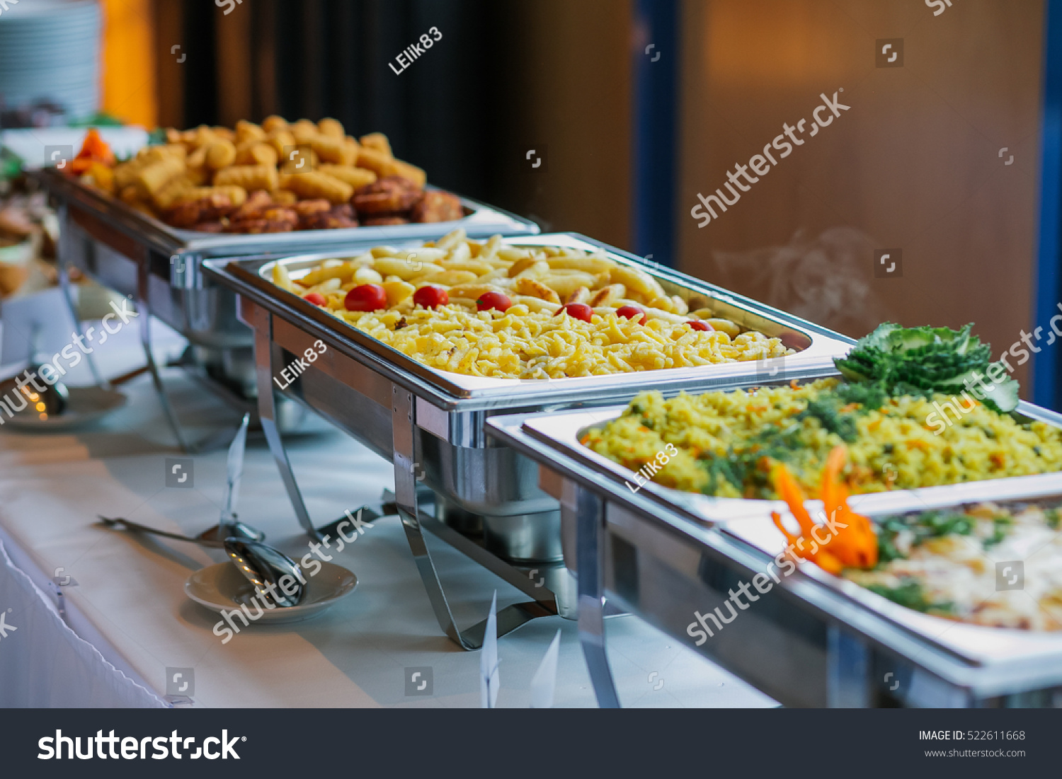 Food Wedding Catering Stock Photo 522611668