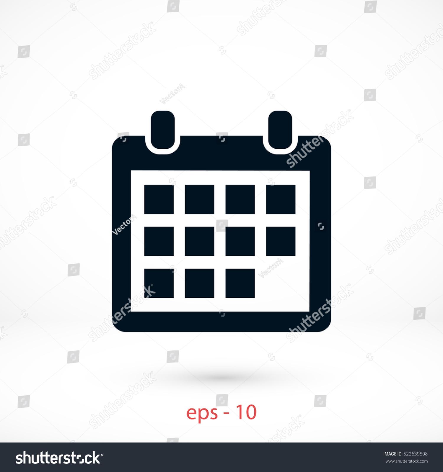 Calendar Design Icon : Calendar icon vector flat design best stock