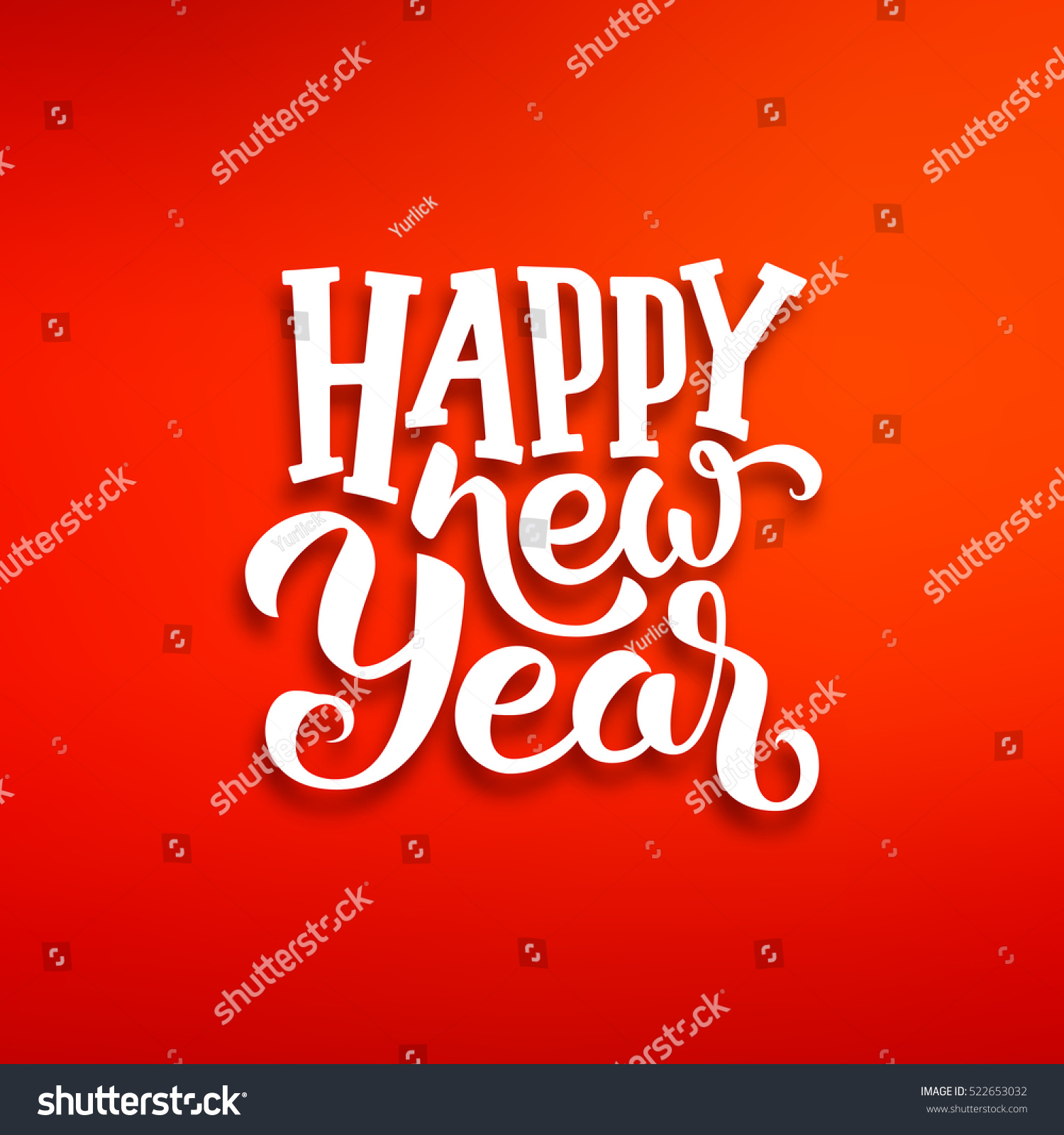 Happy new year greeting card design stock vector royalty free happy new year greeting card design with white lettering on red blurred background vector festive m4hsunfo