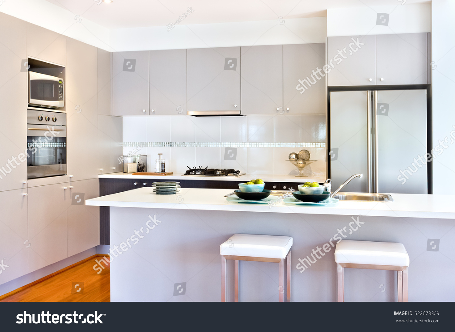 There More Wall Cabinets Pantry Cupboards Stock Photo (Royalty Free ...