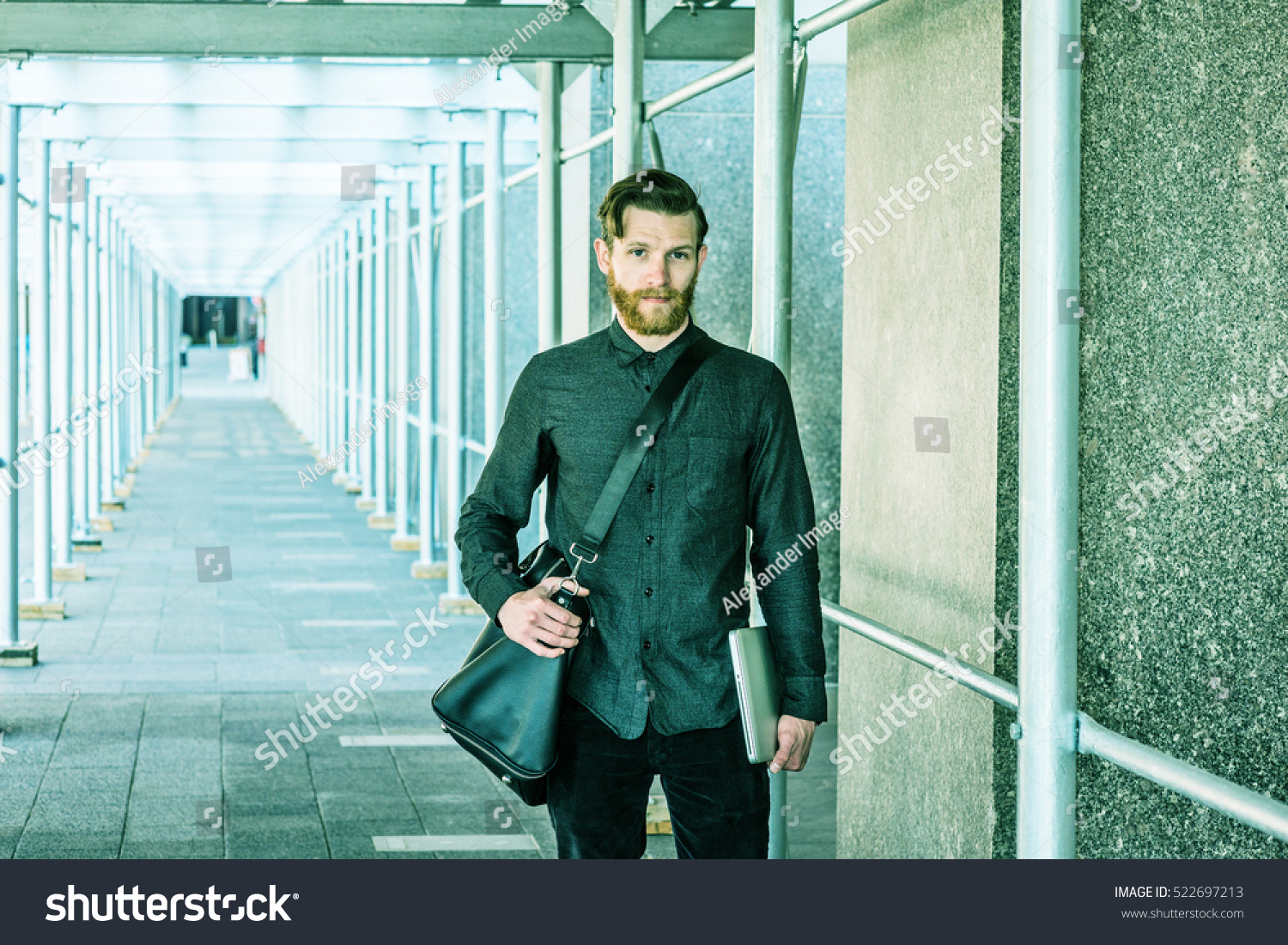 american business man beard mustache travels stock photo 522697213 shutterstock. Black Bedroom Furniture Sets. Home Design Ideas