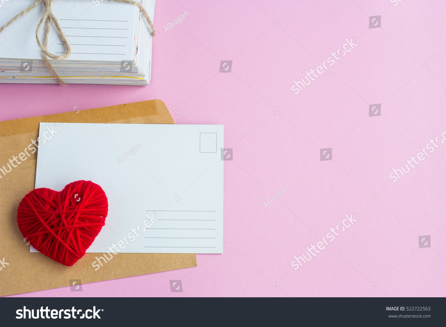 Royalty Free Blank White Post Cards Empty Postcard 522722563