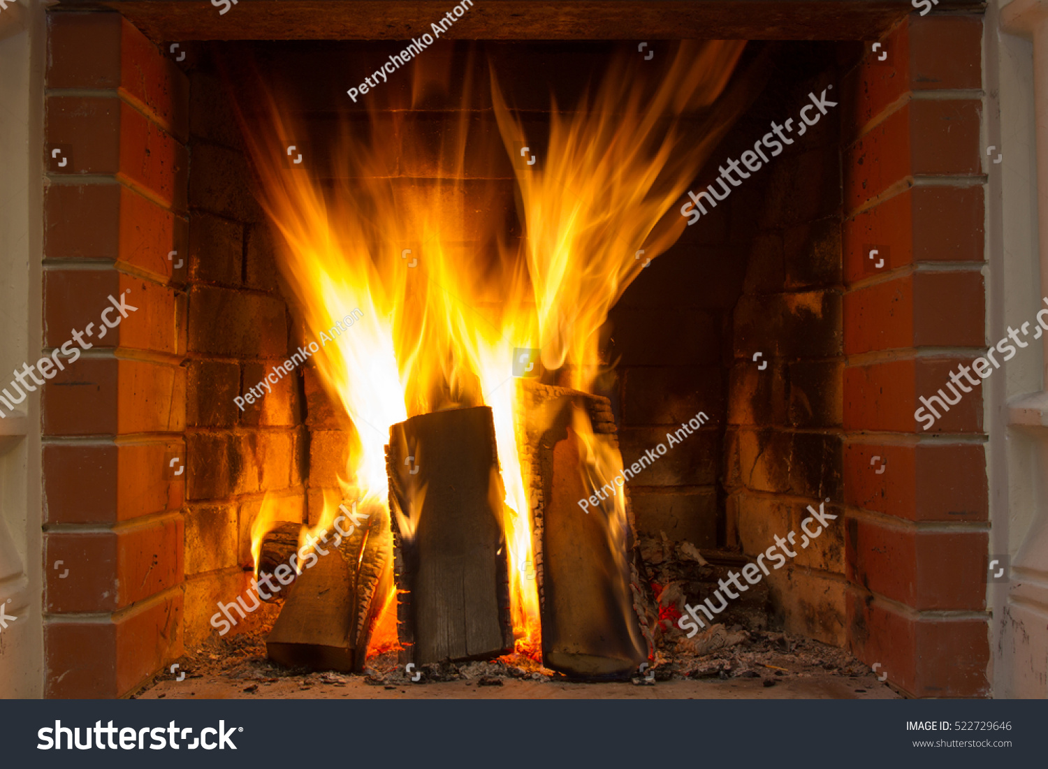 burning wood fireplace close stock photo edit now 522729646