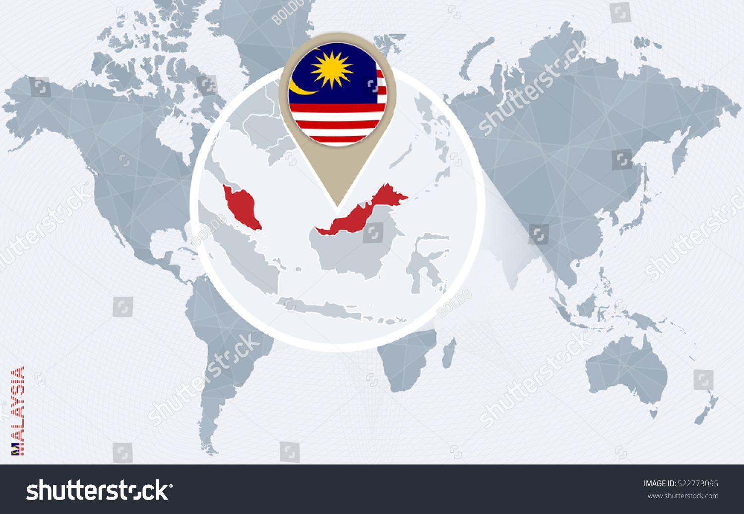 Abstract blue world map magnified malaysia stock illustration abstract blue world map with magnified malaysia malaysia flag and map rater copy gumiabroncs Choice Image