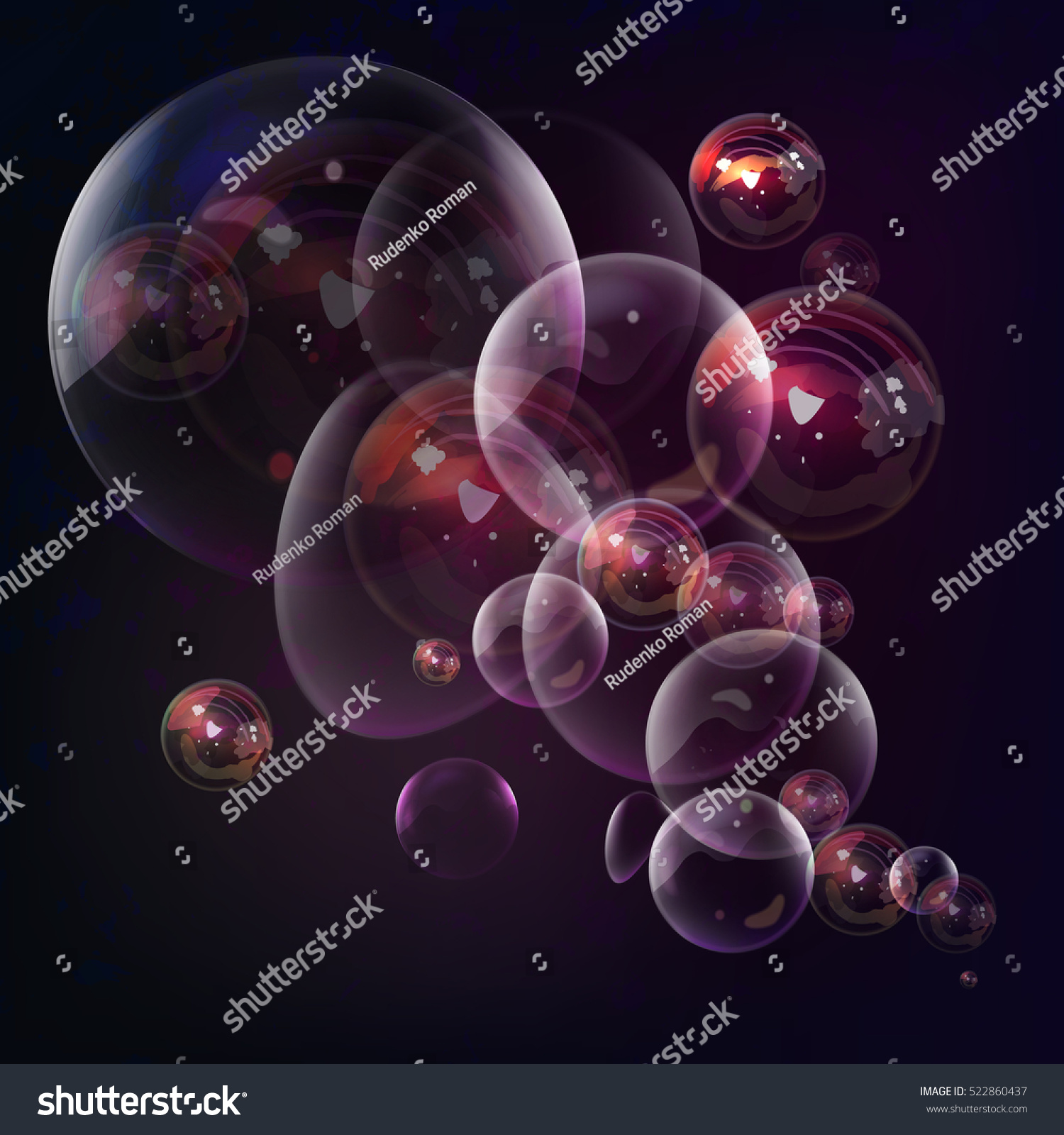 Soap bubble background download free vector art stock graphics -  Vectors Illustrations Footage Music Soap Bubbles On Purple Background In Vector Transparent Water Ball With Shine And Reflection For
