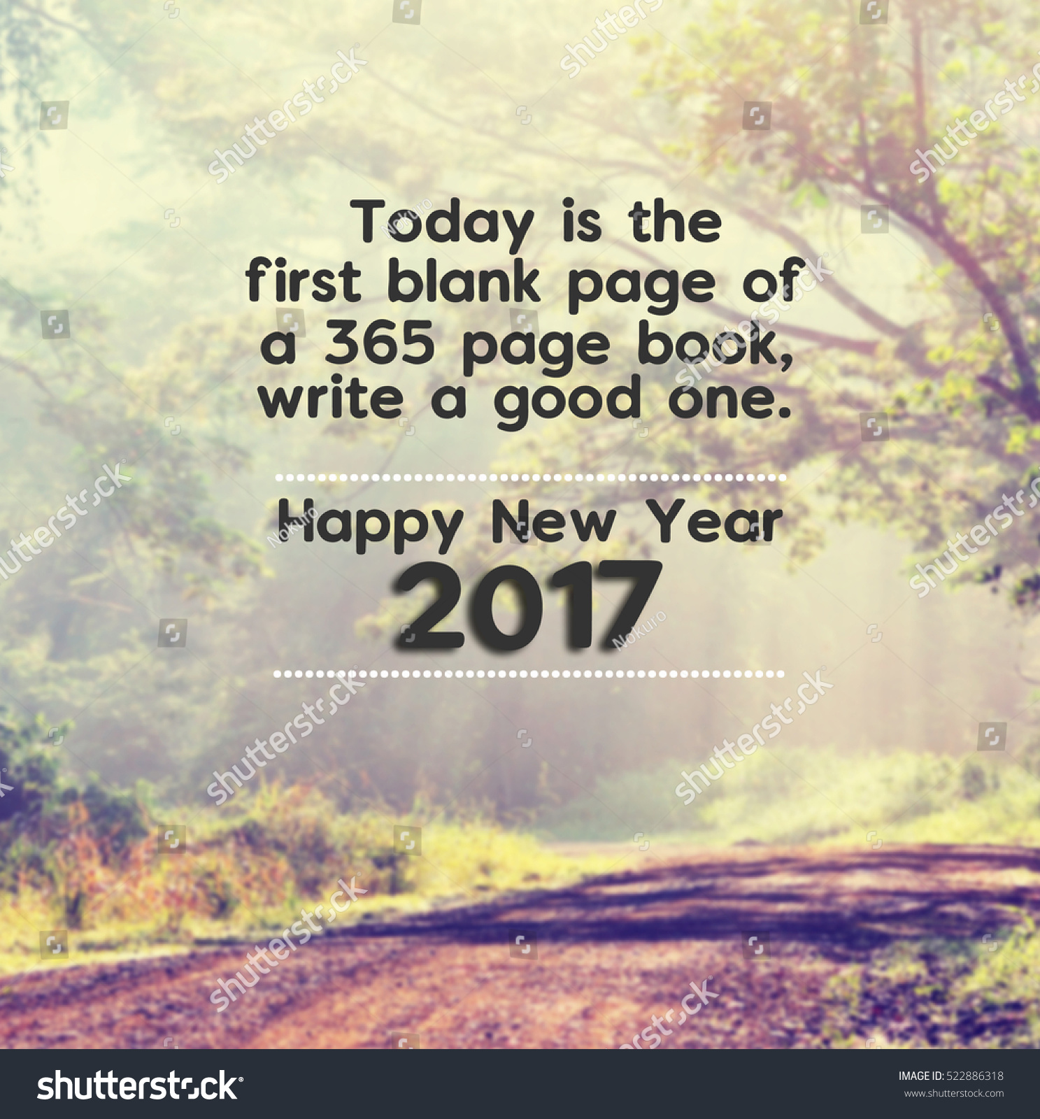 Inspirational New Year Quotes Happy New Year Inspirational Quotes Phrase Stock Photo 522886318