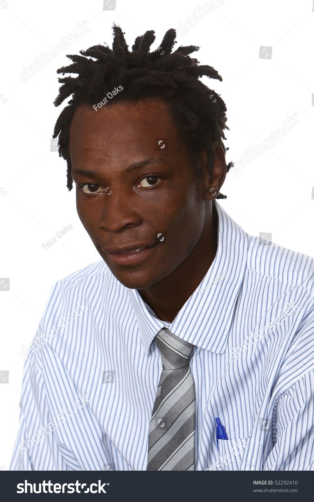 Young Black Business Man Dreadlocks Hairstyle Stock Photo ...