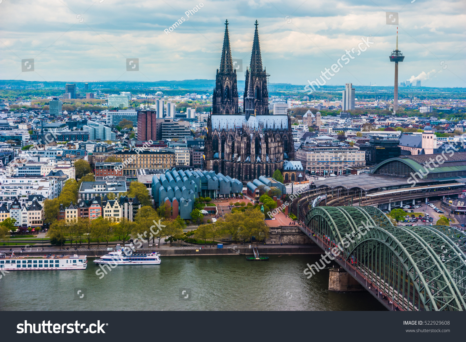 aerial view cologne germany beautiful travel stock photo 522929608 shutterstock. Black Bedroom Furniture Sets. Home Design Ideas