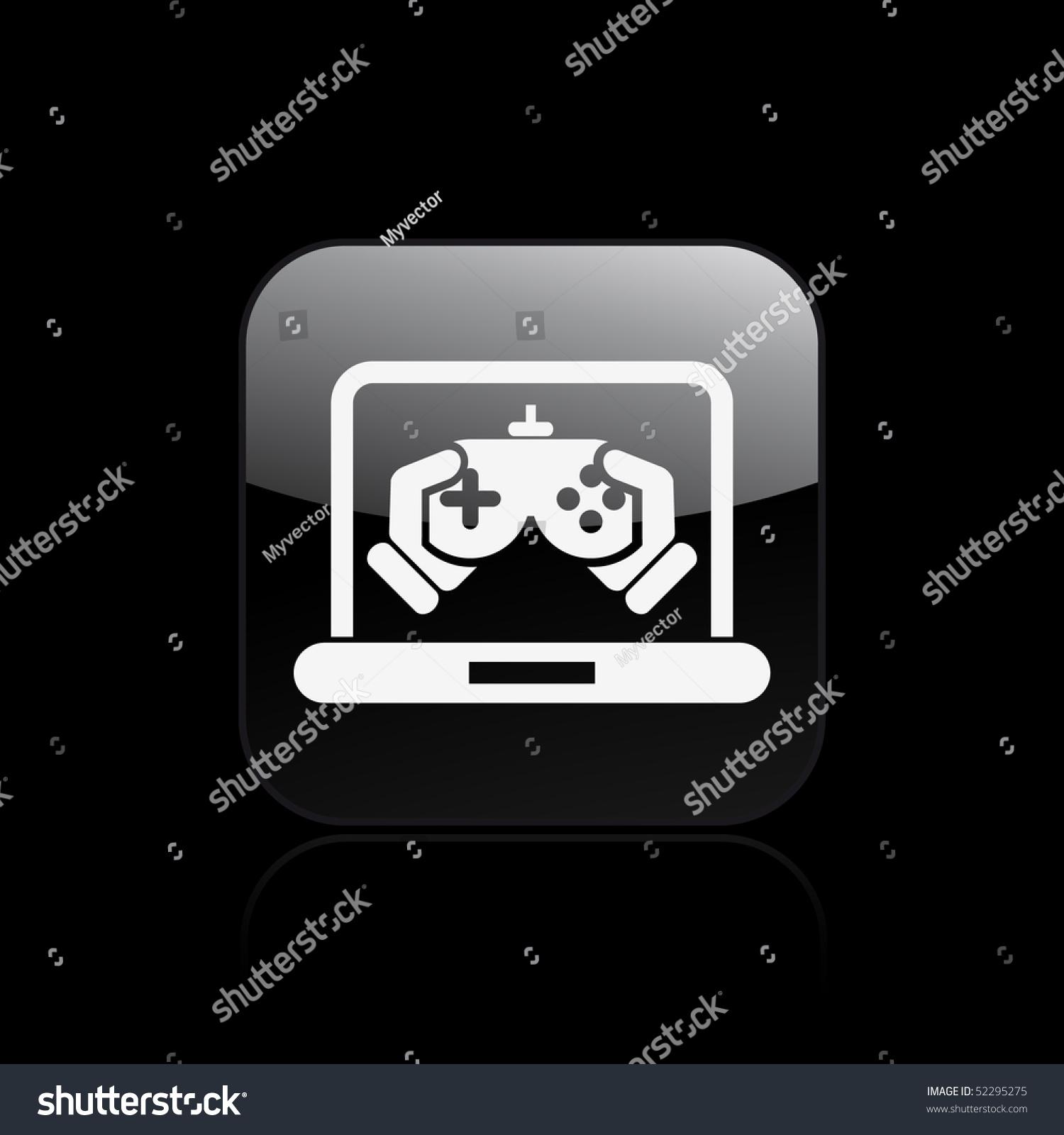 Vector Illustration Modern Computer Desktop Icon Stock Vector