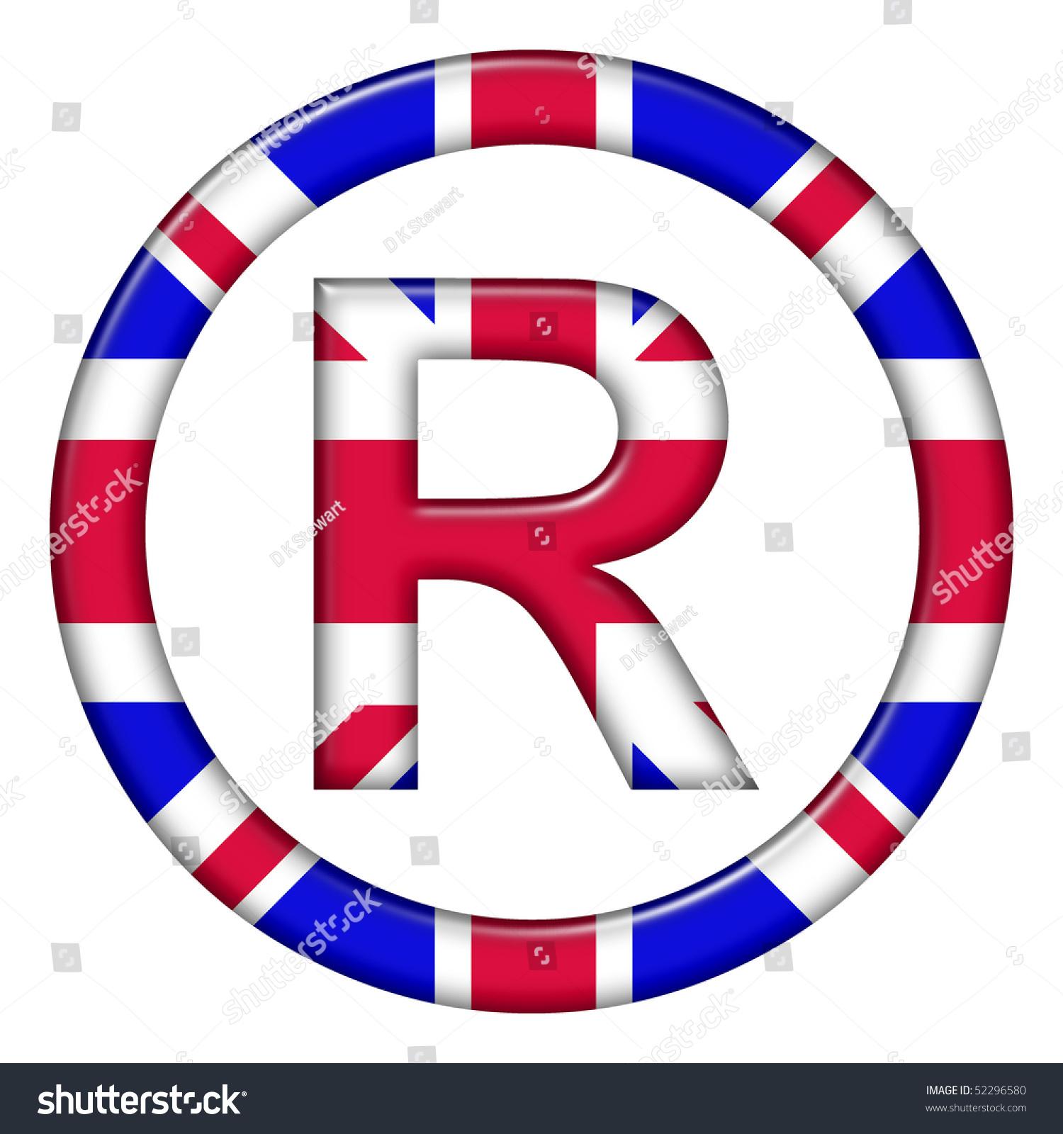 Registered trademark symbol showing uk flag stock illustration registered trademark symbol showing uk flag buycottarizona Gallery