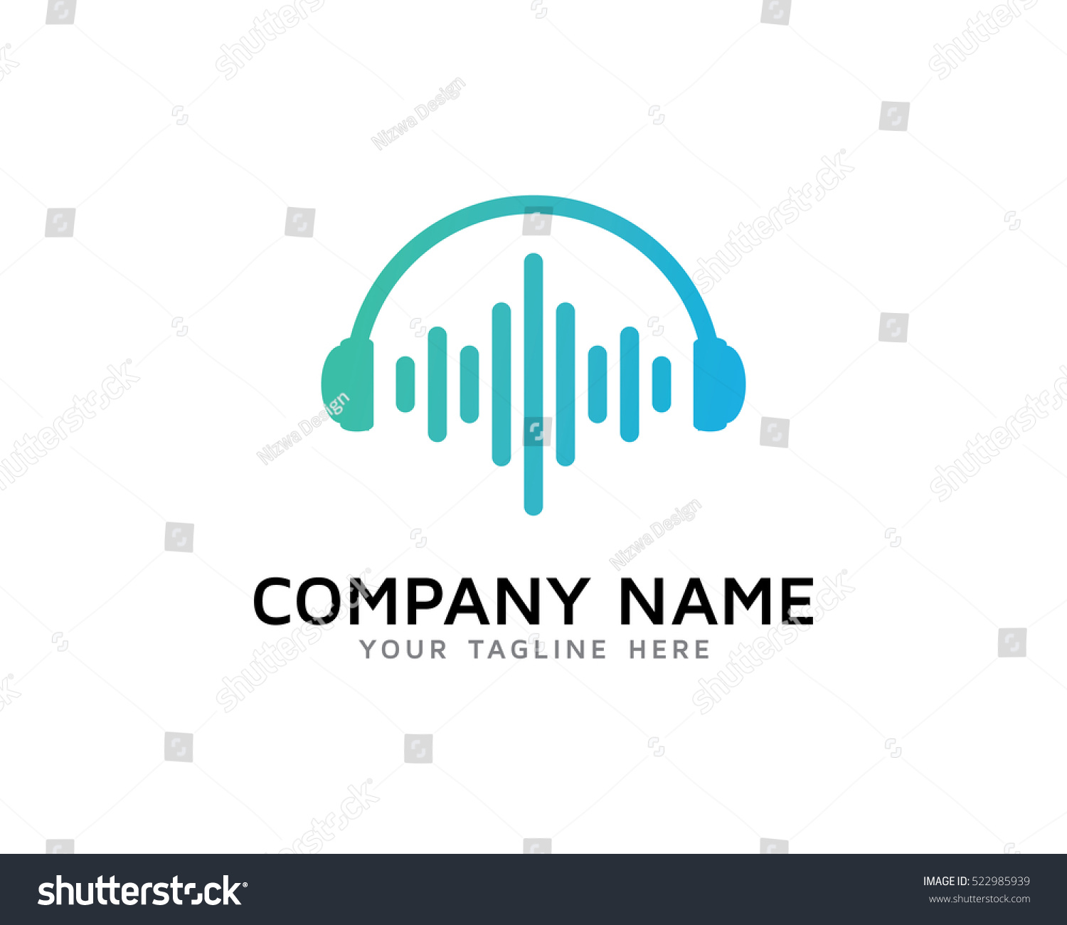 Sound Wave Logo Design Template Stock Vector (Royalty Free ...
