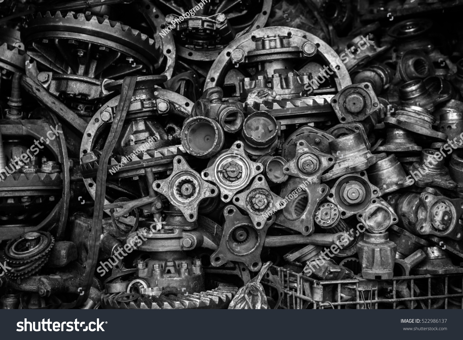 Hq Old Machinery Parts : Old machine parts second hand machinery stock photo
