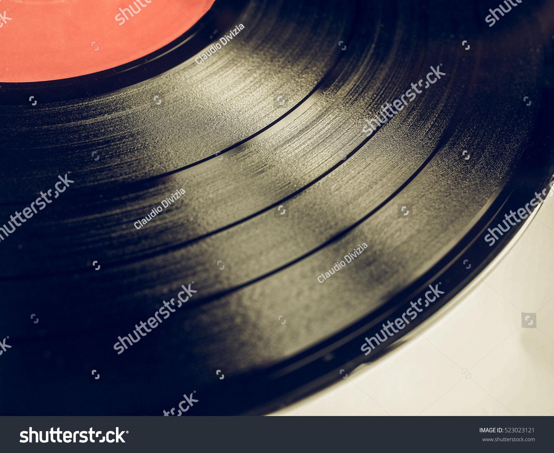 Vintage looking vinyl record vintage analog stock photo