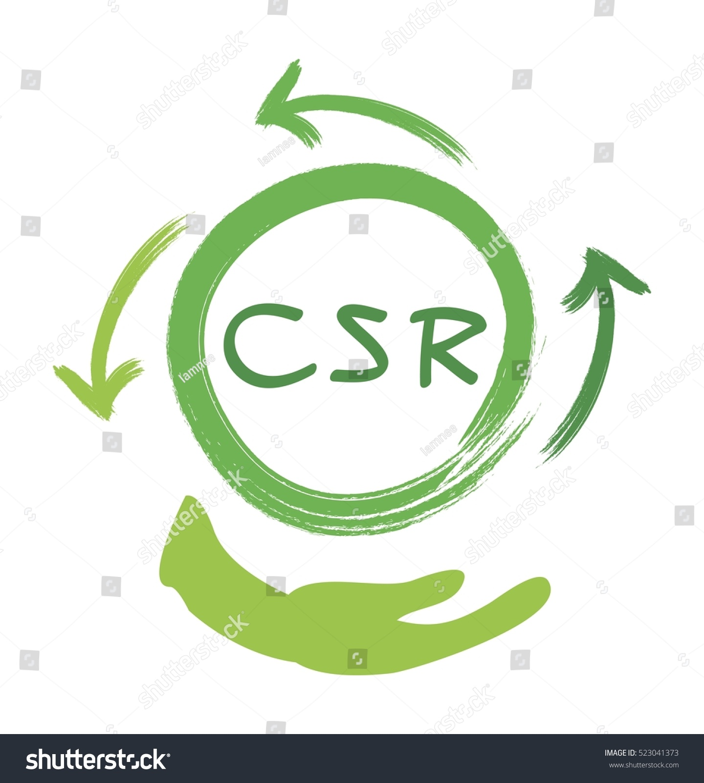 Business Concepts Recycle Icon Csr Abbreviation Stock Photo (Photo ...