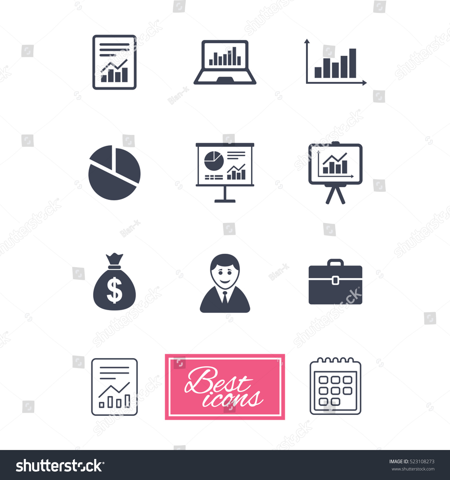 Statistics accounting icons charts presentation pie stock statistics accounting icons charts presentation and pie chart signs analysis report geenschuldenfo Choice Image