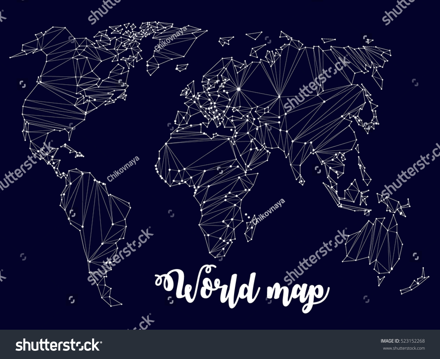 Constellation world map atlas communication vector stock vector constellation world map atlas communication vector gumiabroncs Image collections