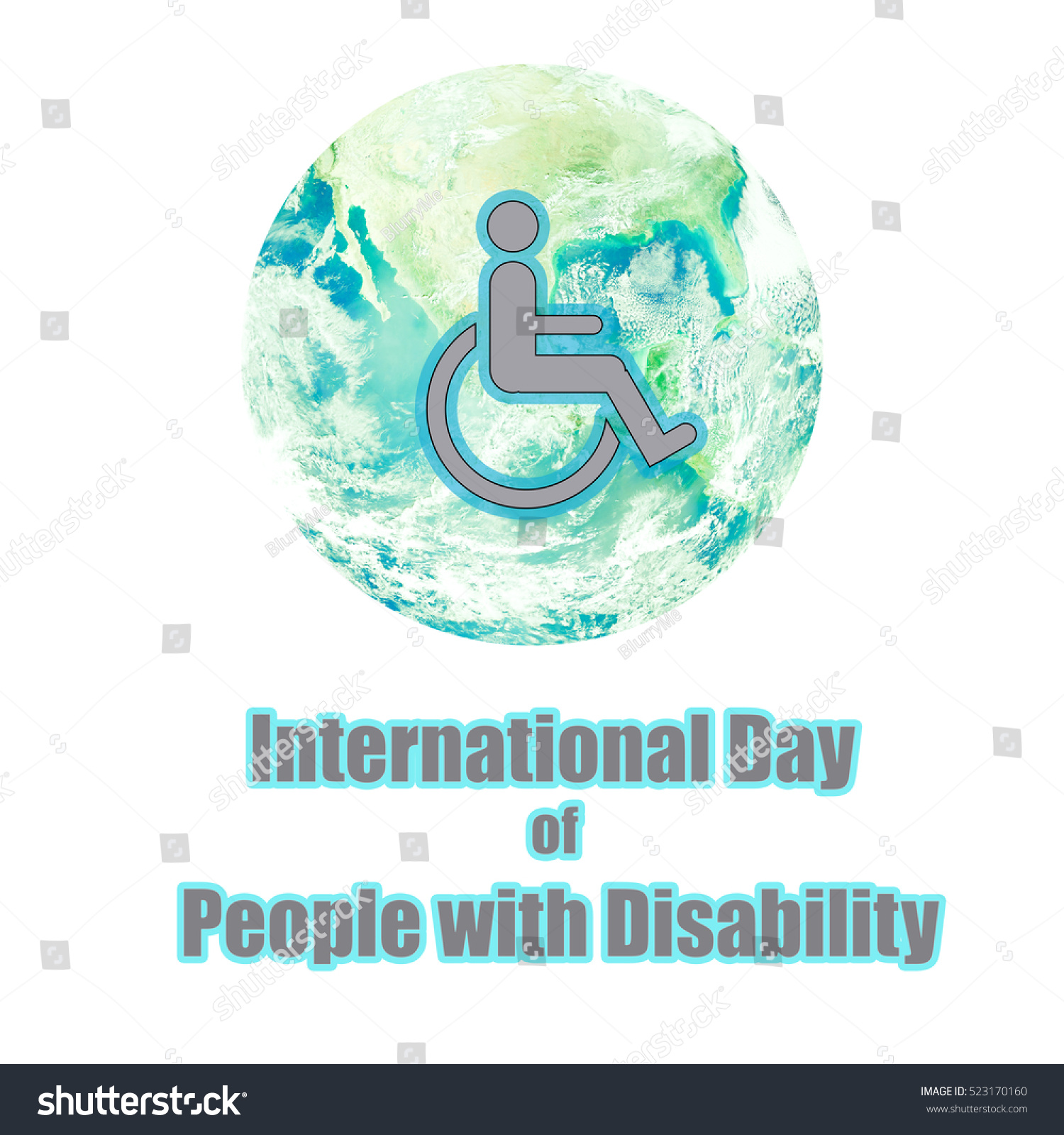 Disability sign symbol human on wheelchair stock illustration disability sign symbol of human on wheelchair on world planet earth for international day of people biocorpaavc
