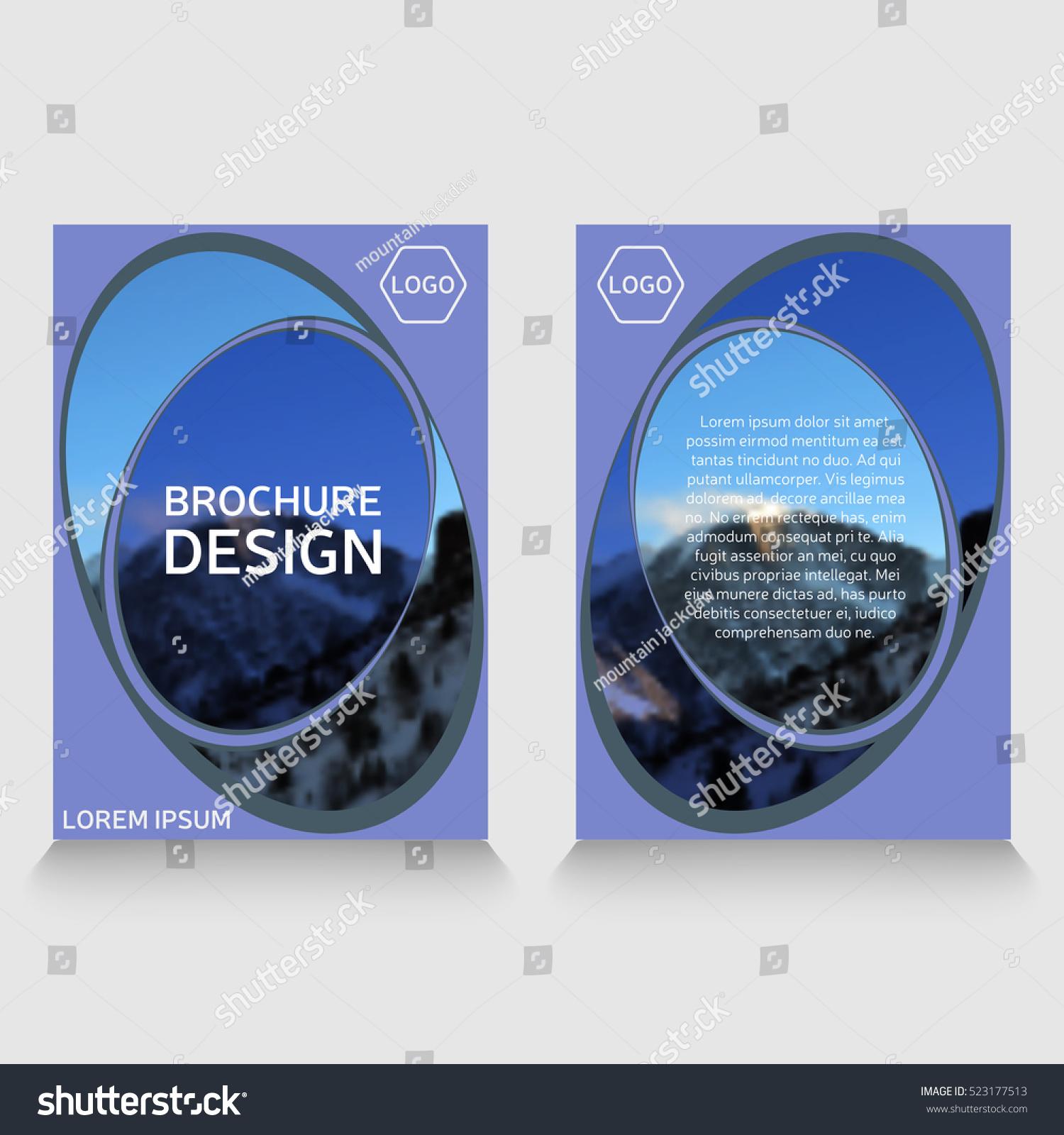 brochure template annual report sample leaflet のベクター画像素材