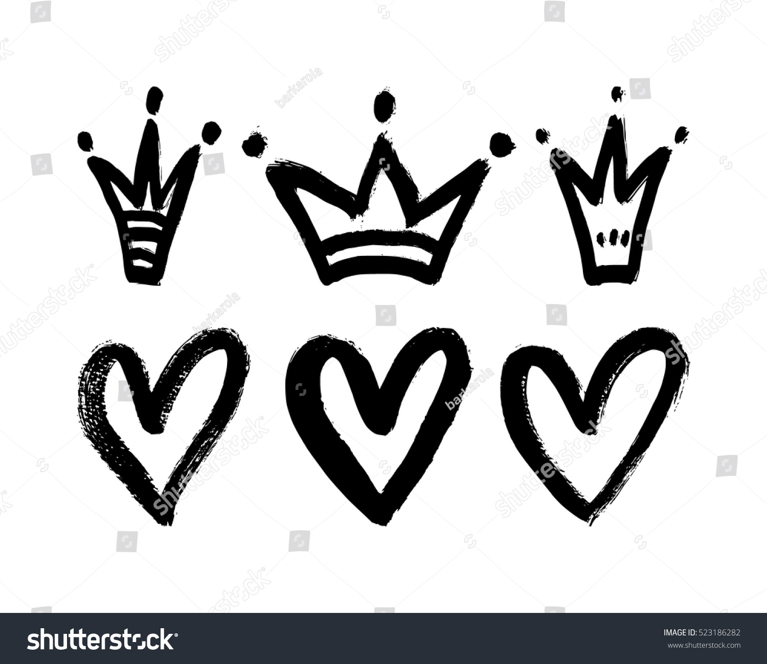 how to draw a heart with a crown