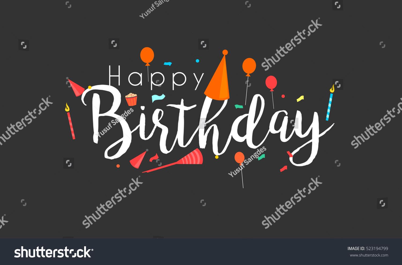 Happy birthday typographic vector design greeting em vetor stock happy birthday typographic vector design for greeting cards birthday card invitation card isolated stopboris Gallery