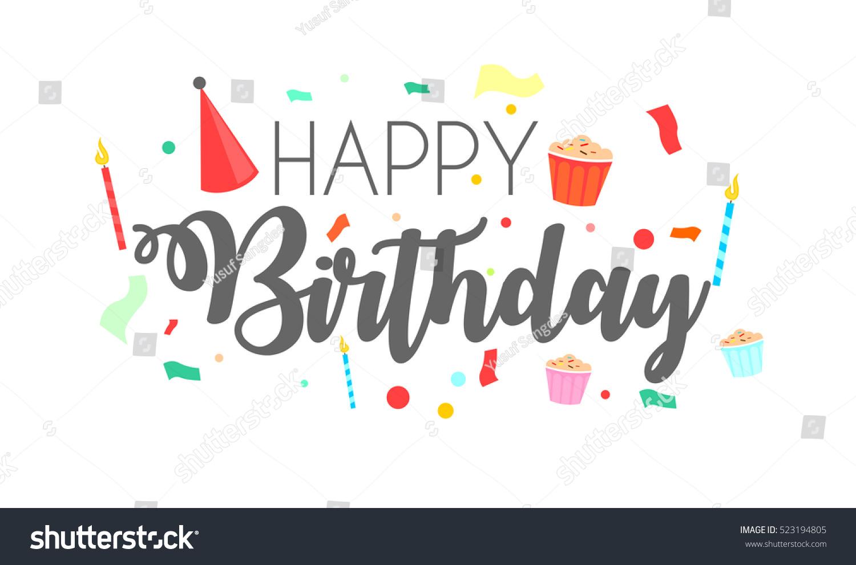 Happy birthday typographic vector design greeting em vetor stock happy birthday typographic vector design for greeting cards birthday card invitation card isolated stopboris Choice Image