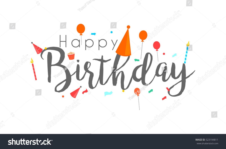 Happy birthday typographic vector design greeting em vetor stock happy birthday typographic vector design for greeting cards birthday card invitation card isolated stopboris Images