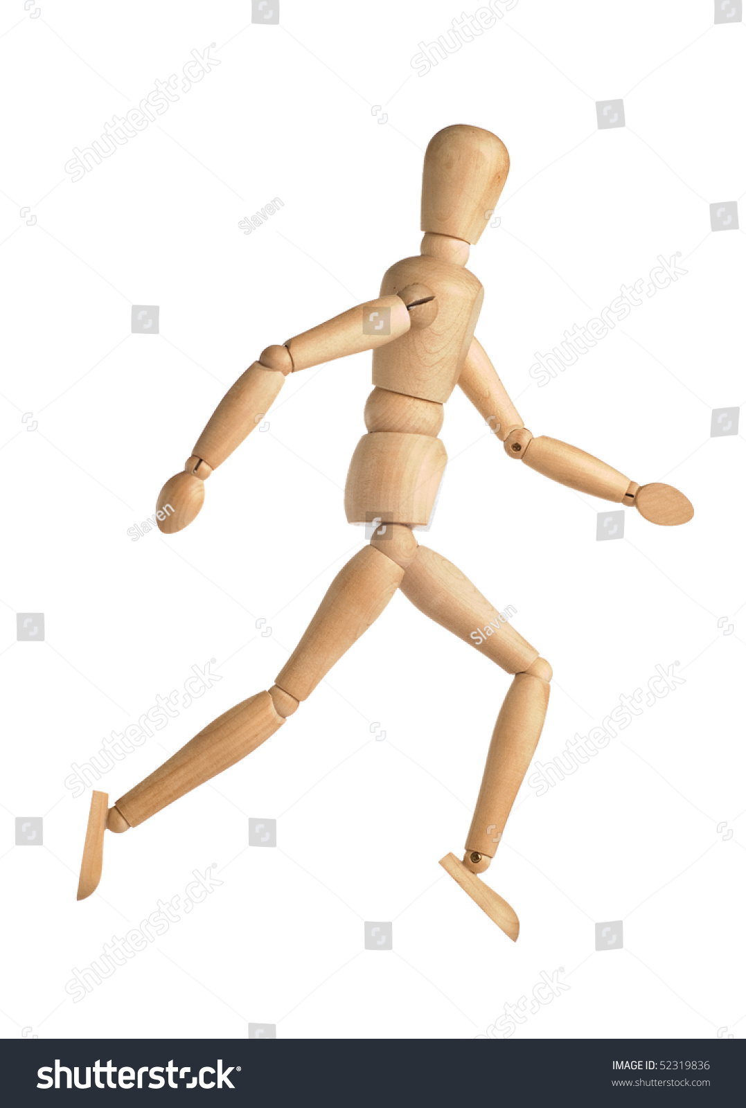 royalty free wooden doll in running position 52319836 stock photo
