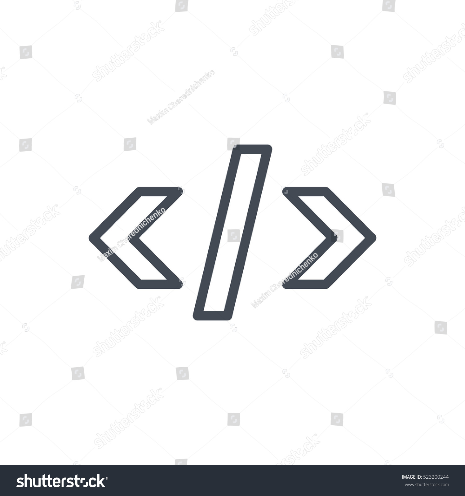Seo Business Web Outlined Line Icon Stock Vector (Royalty