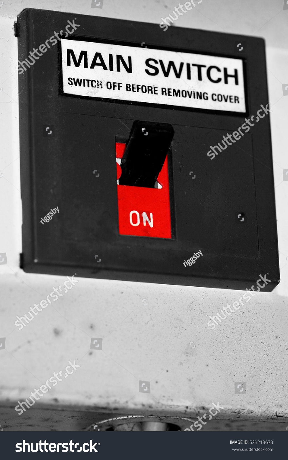 Main On Off Switch On Domestic Stock Photo (Edit Now) 523213678 ...