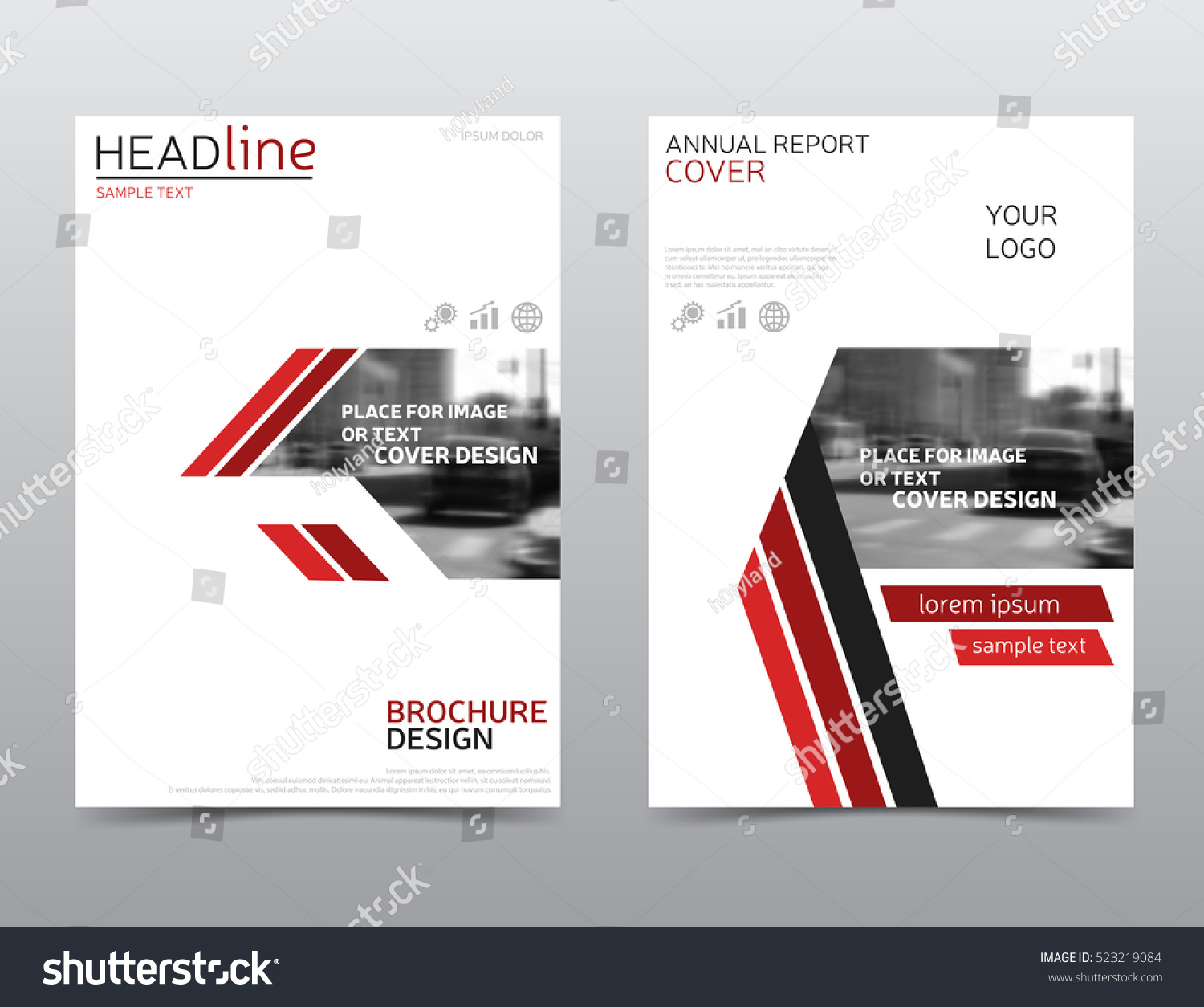White red brochure design technology annual stock vector for Red brochure template