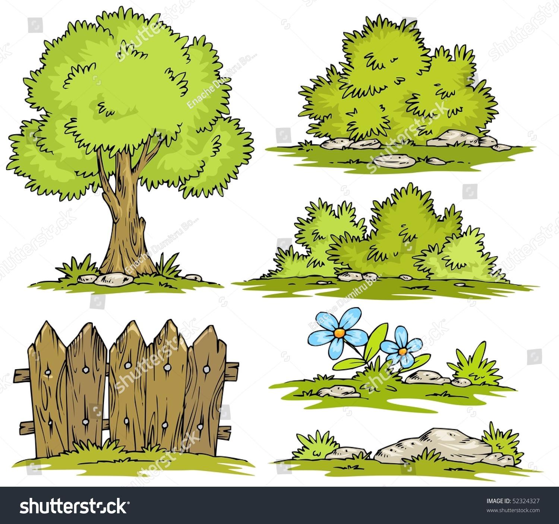 Cartoon Landscape Clipart Stock Vector Illustration ...