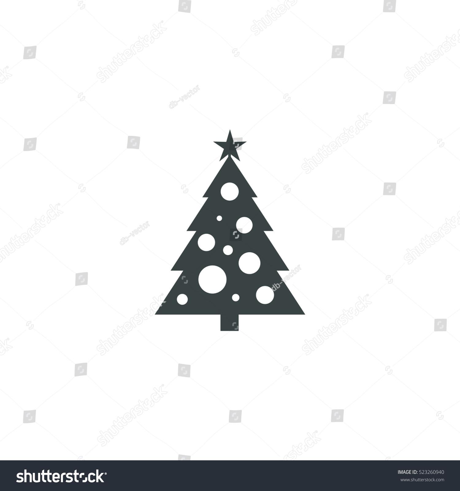 Christmas tree icon simple vector illustration
