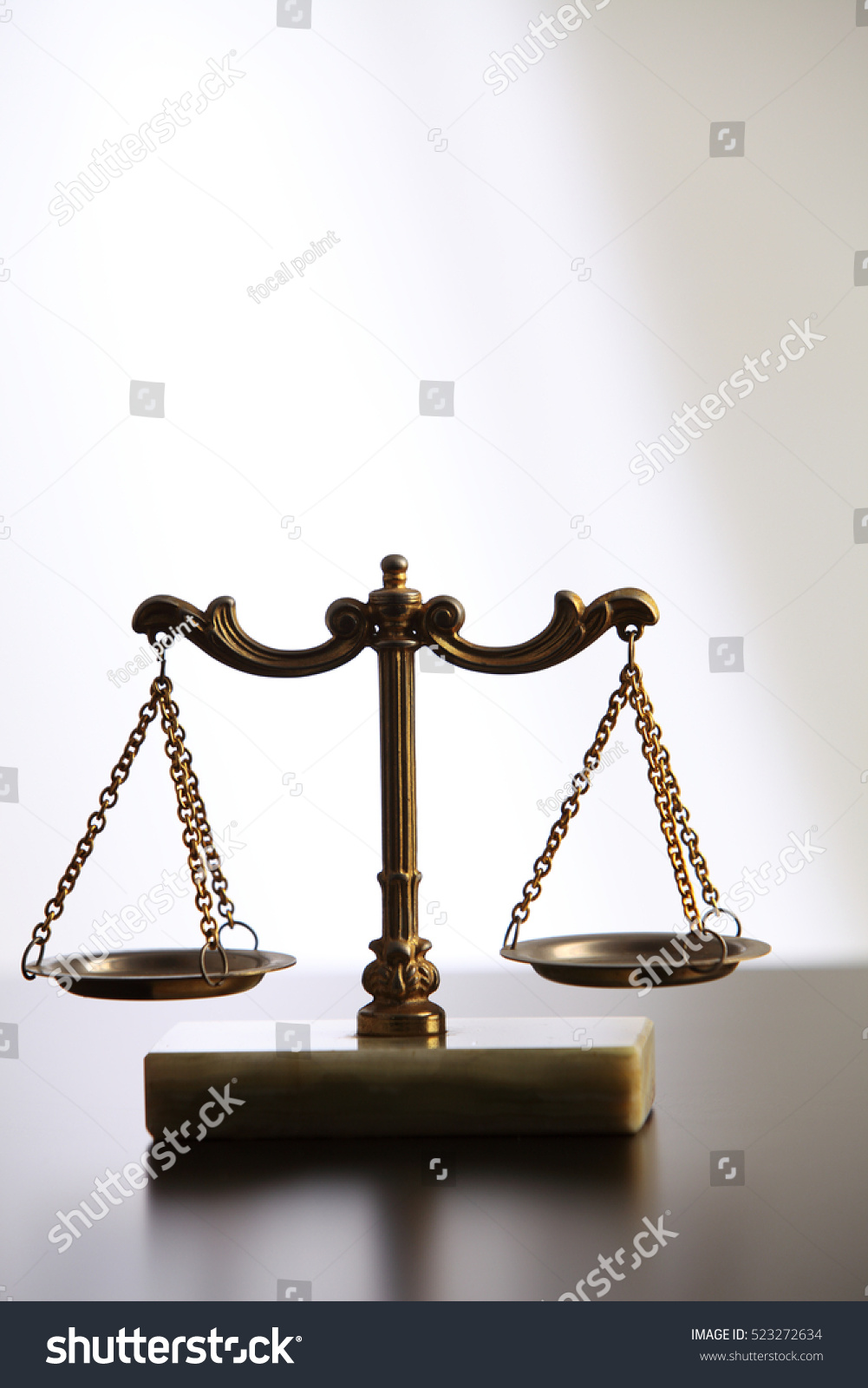 Symbol Justice A Balance Scales Stock Photo Royalty Free 523272634