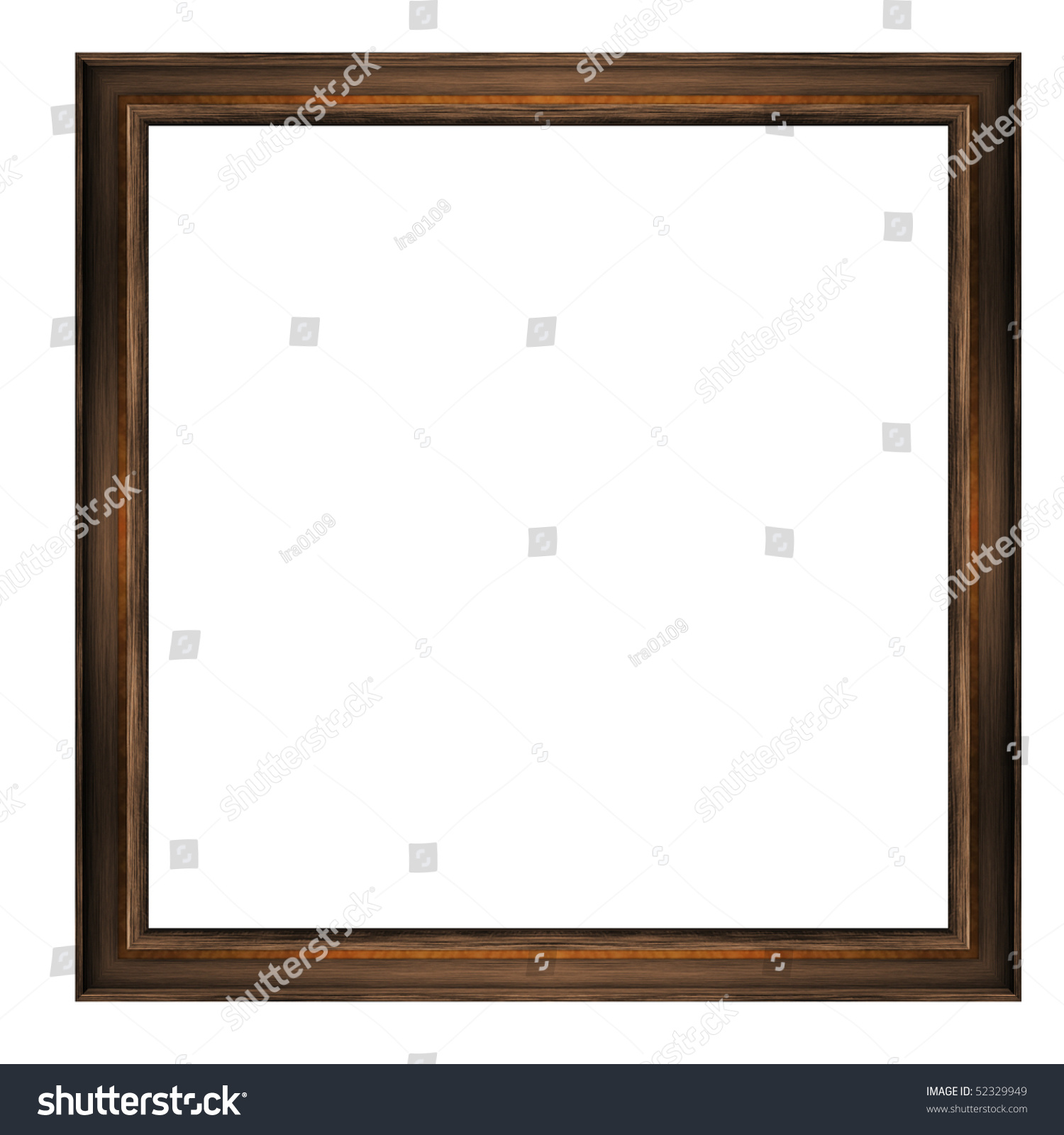 Thin Wooden Frame Amber Inserts Isolated Stock Illustration 52329949 ...