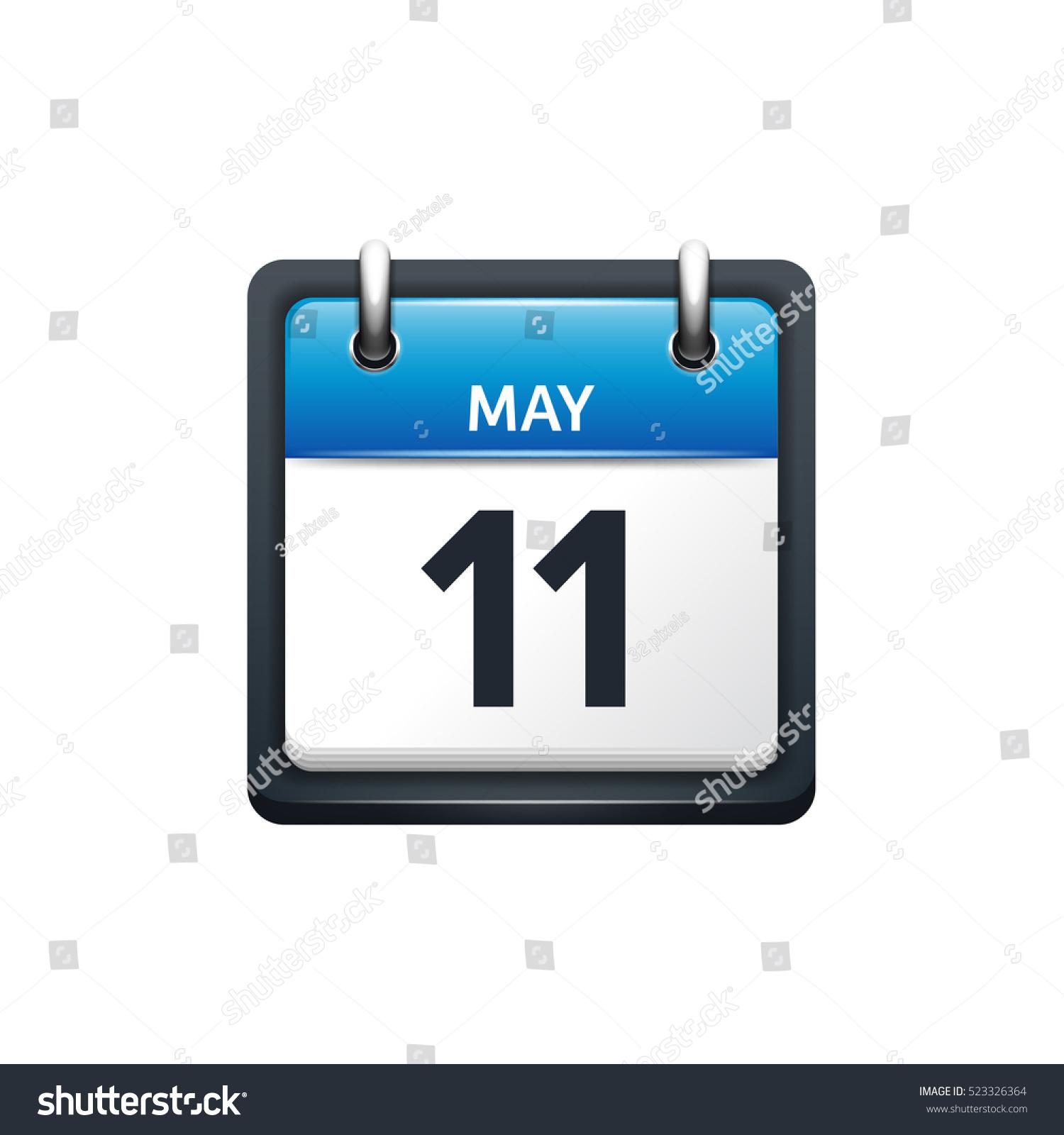 May Calendar Vector : May calendar iconvector illustrationflat stylemonth